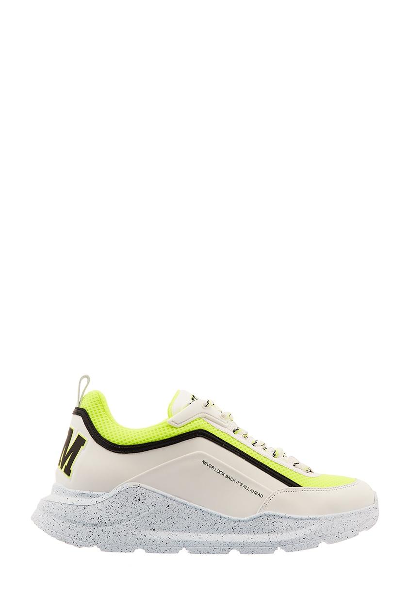 женские кроссовки msgm, зеленые