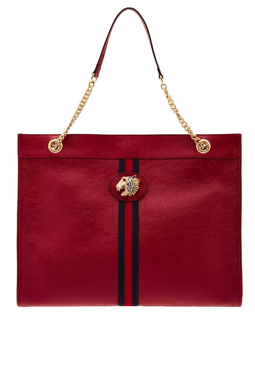 Красная сумка-тоут Rajah Gucci
