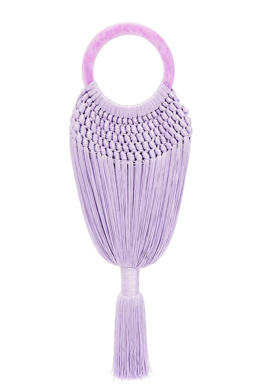 женская сумка cult gaia, фиолетовая