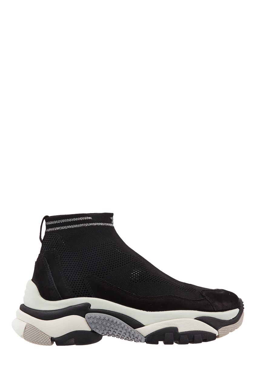 Черные кроссовки-носки Addict Stretch