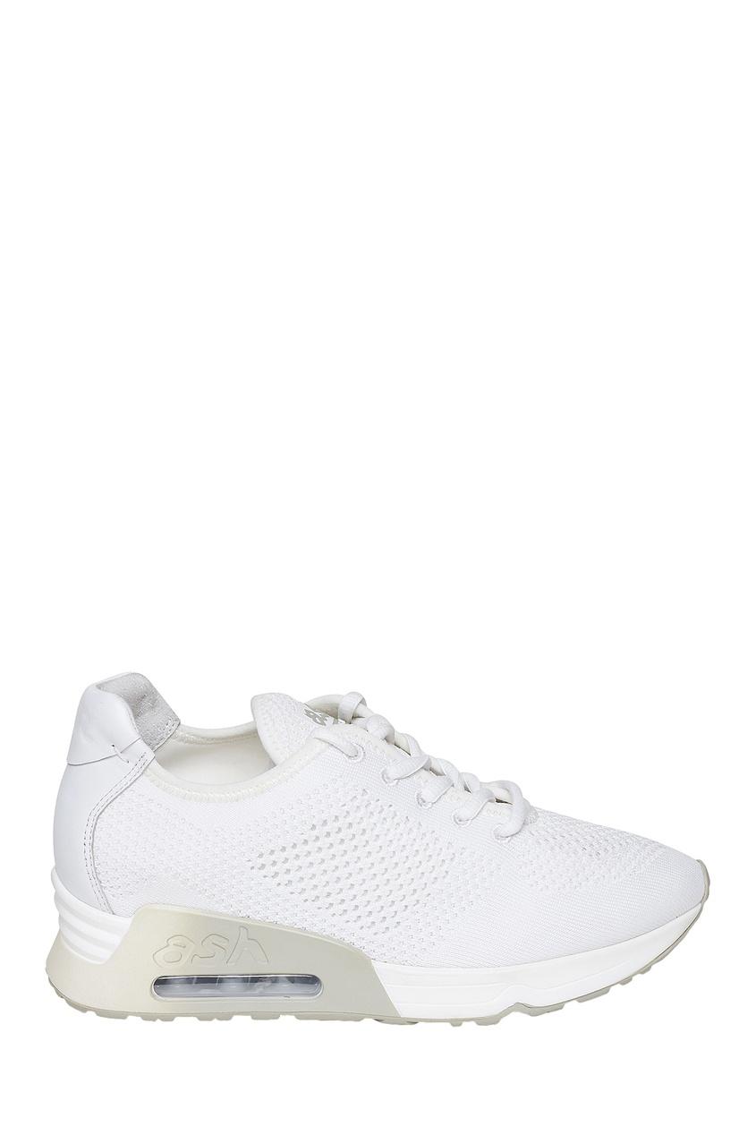 Белые фактурные кроссовки Lucky ASH