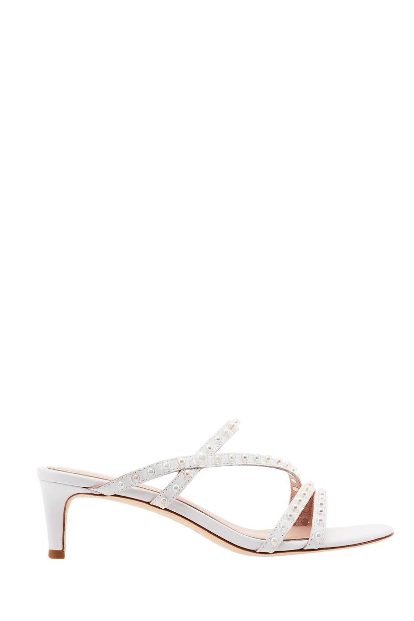 Белые кожаные босоножки Kate Pearl ASH