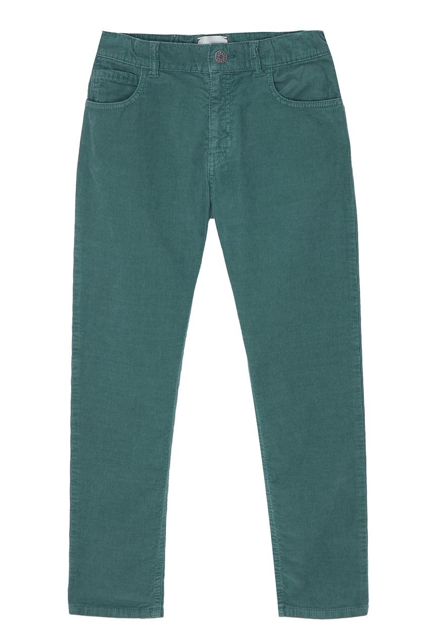 Купить Зеленые брюки от Gucci Kids зеленого цвета