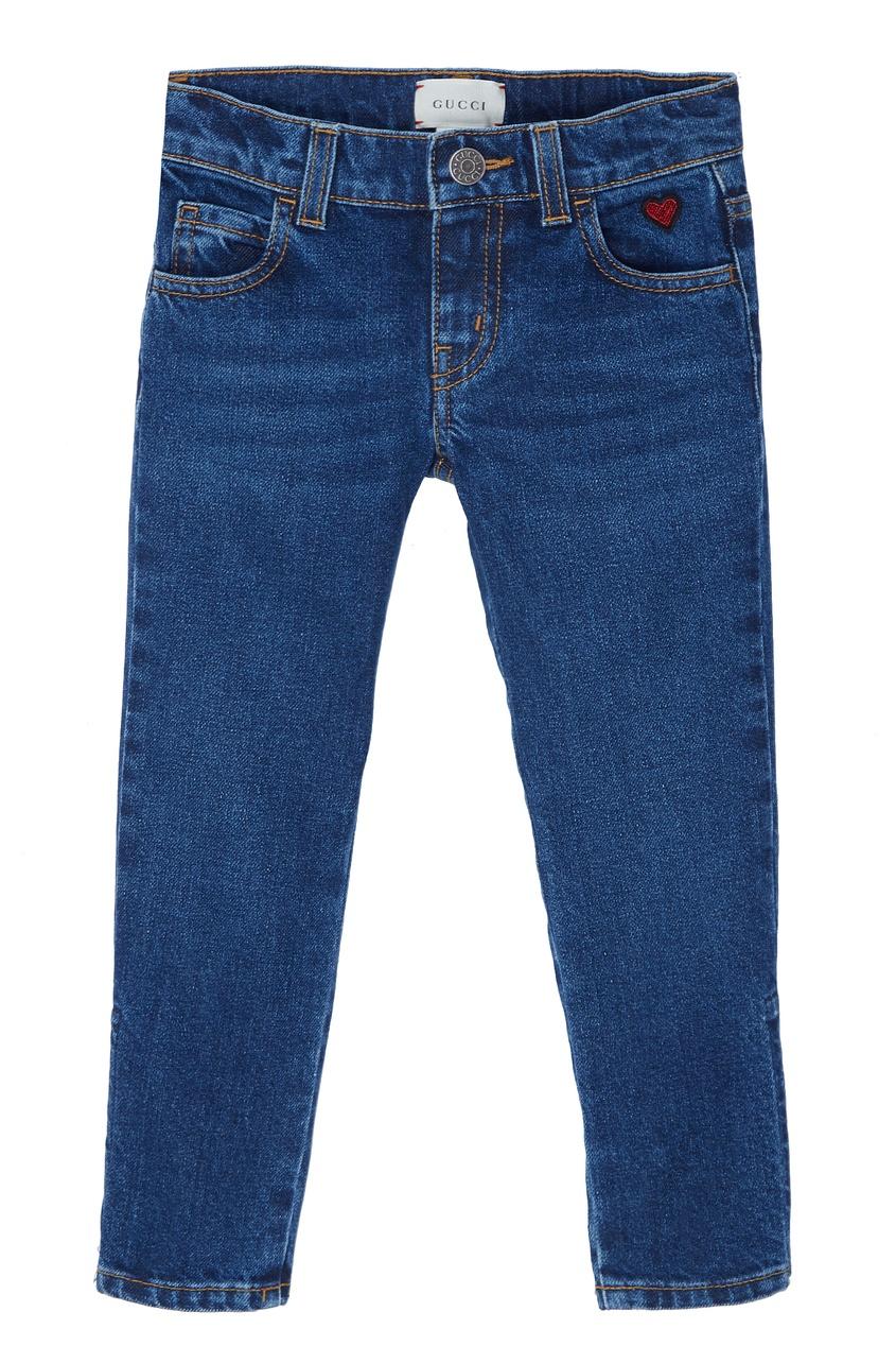 Купить Синие джинсы от Gucci Kids синего цвета