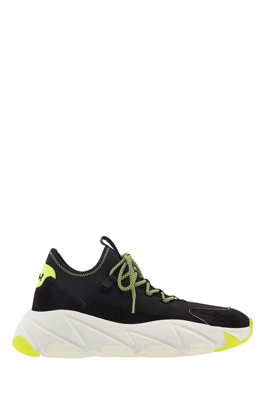 Черные текстильные кроссовки Excape