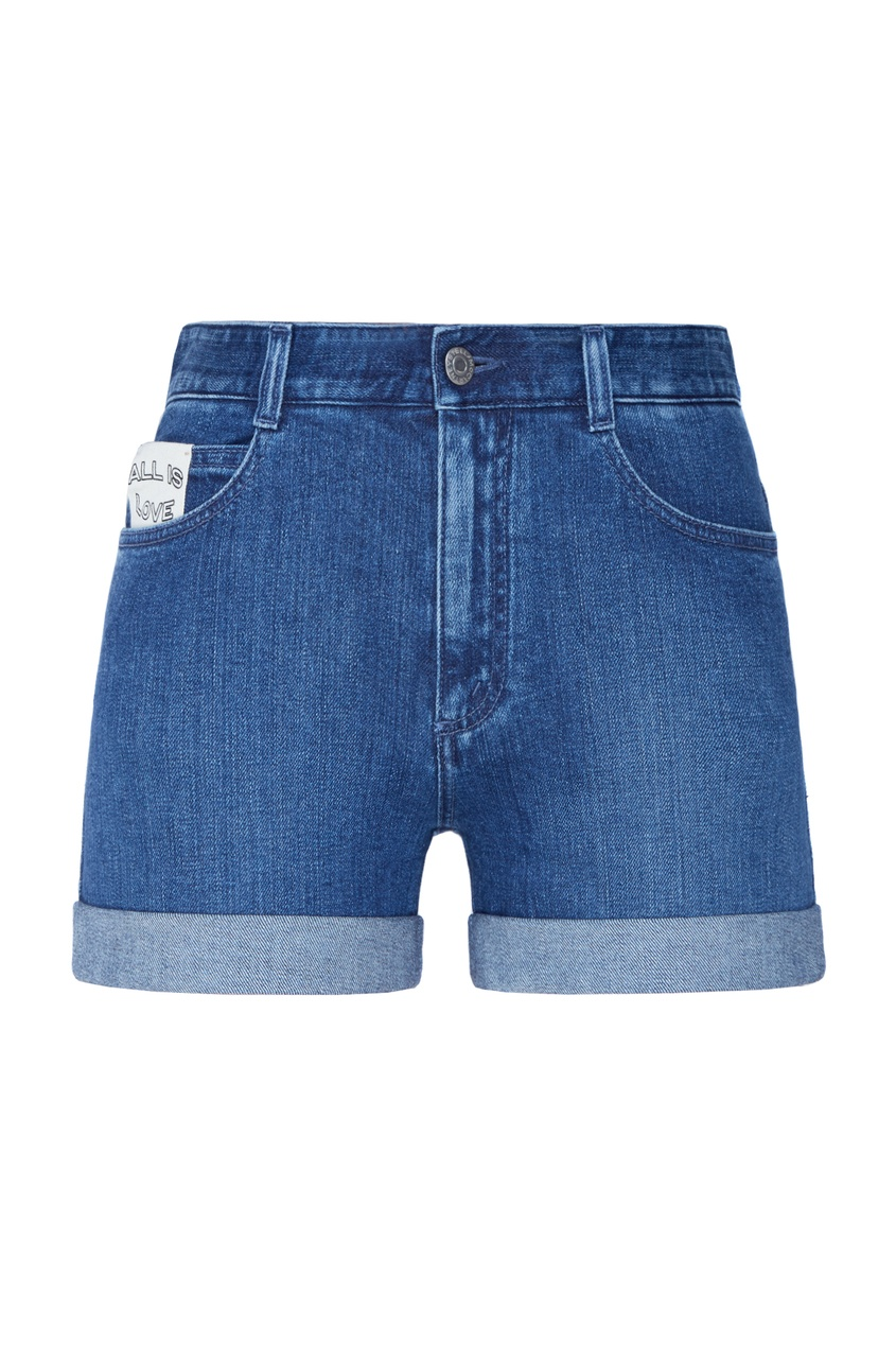 Джинсовые шорты с подворотами Stella McCartney
