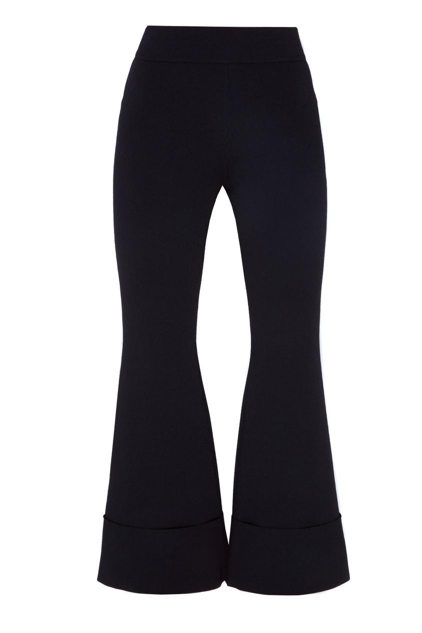 Черные расклешенные брюки Stella McCartney