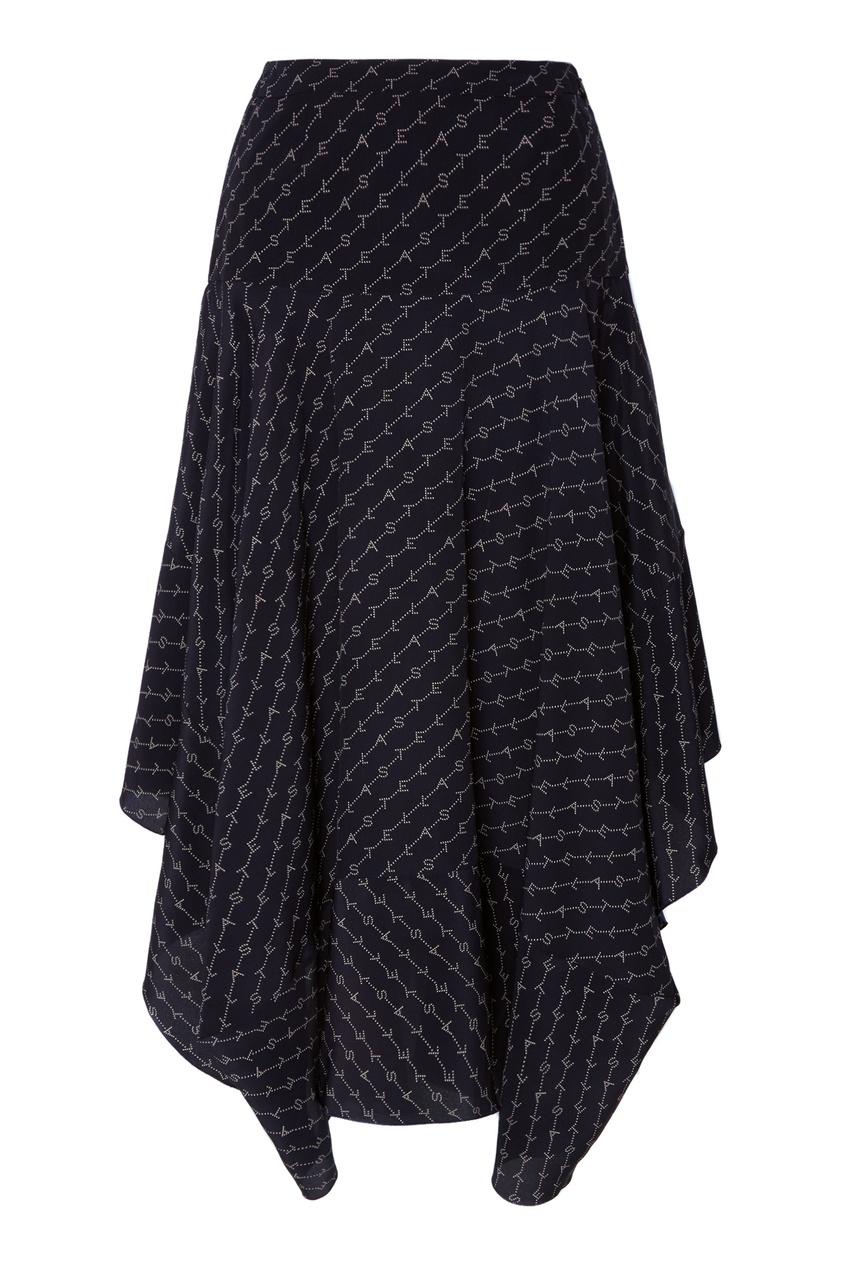 Шелковая юбка с монограммами Stella McCartney