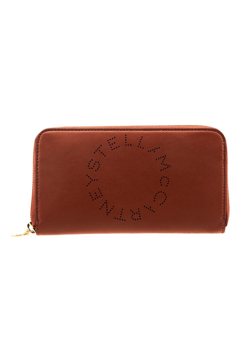 женское портмоне stella mccartney, коричневое