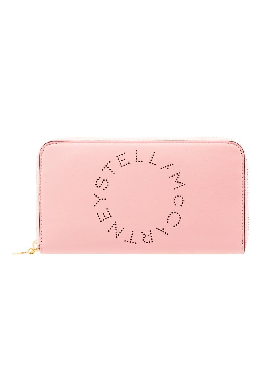 женское портмоне stella mccartney, розовое