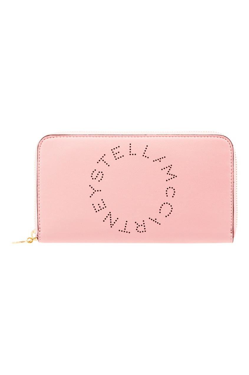 Розовое портмоне с логотипом Stella McCartney