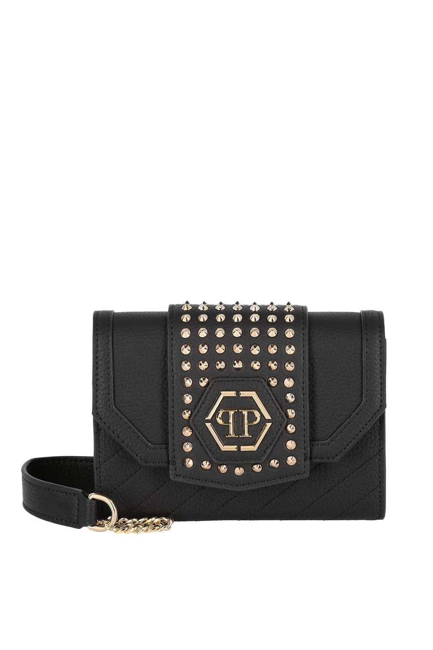Черная сумка с шипами Philipp Plein