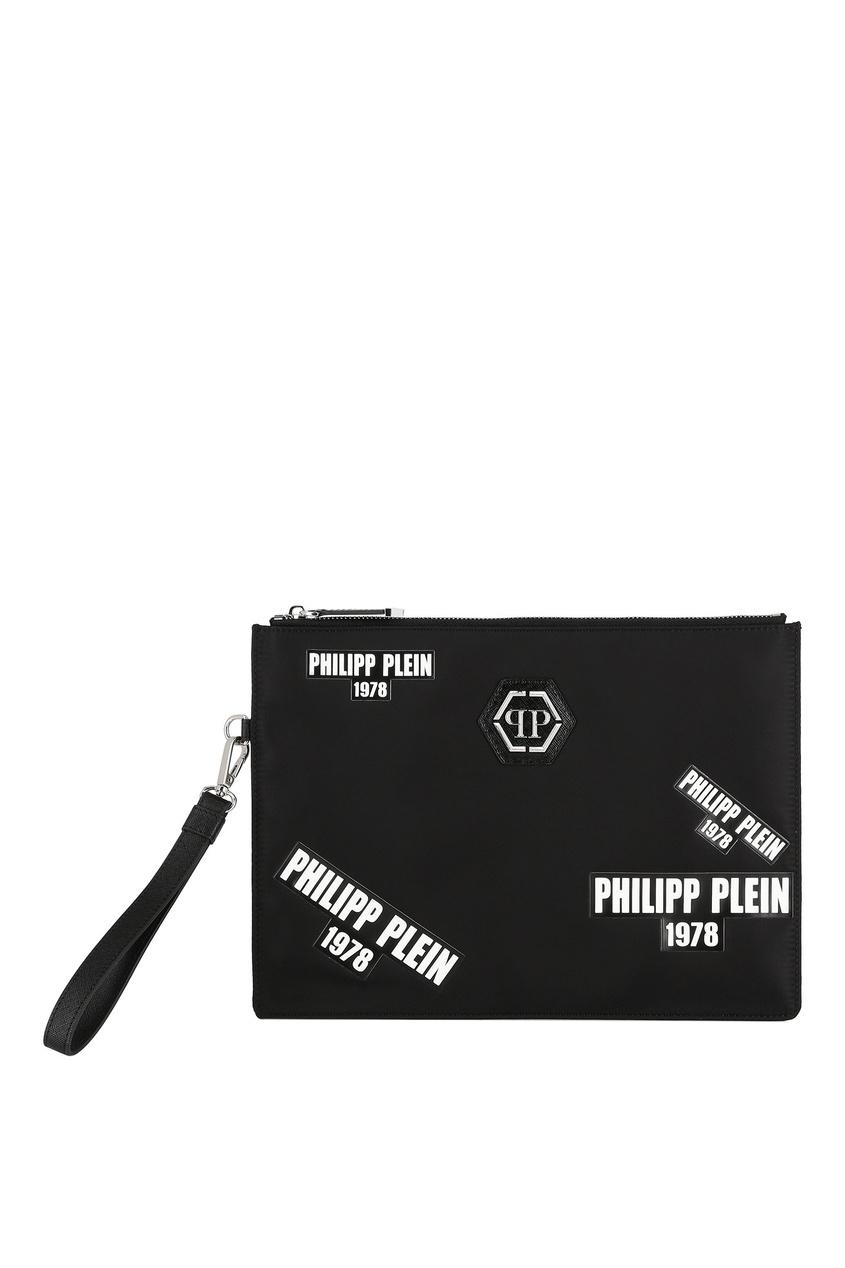 мужской клатч philipp plein, черный