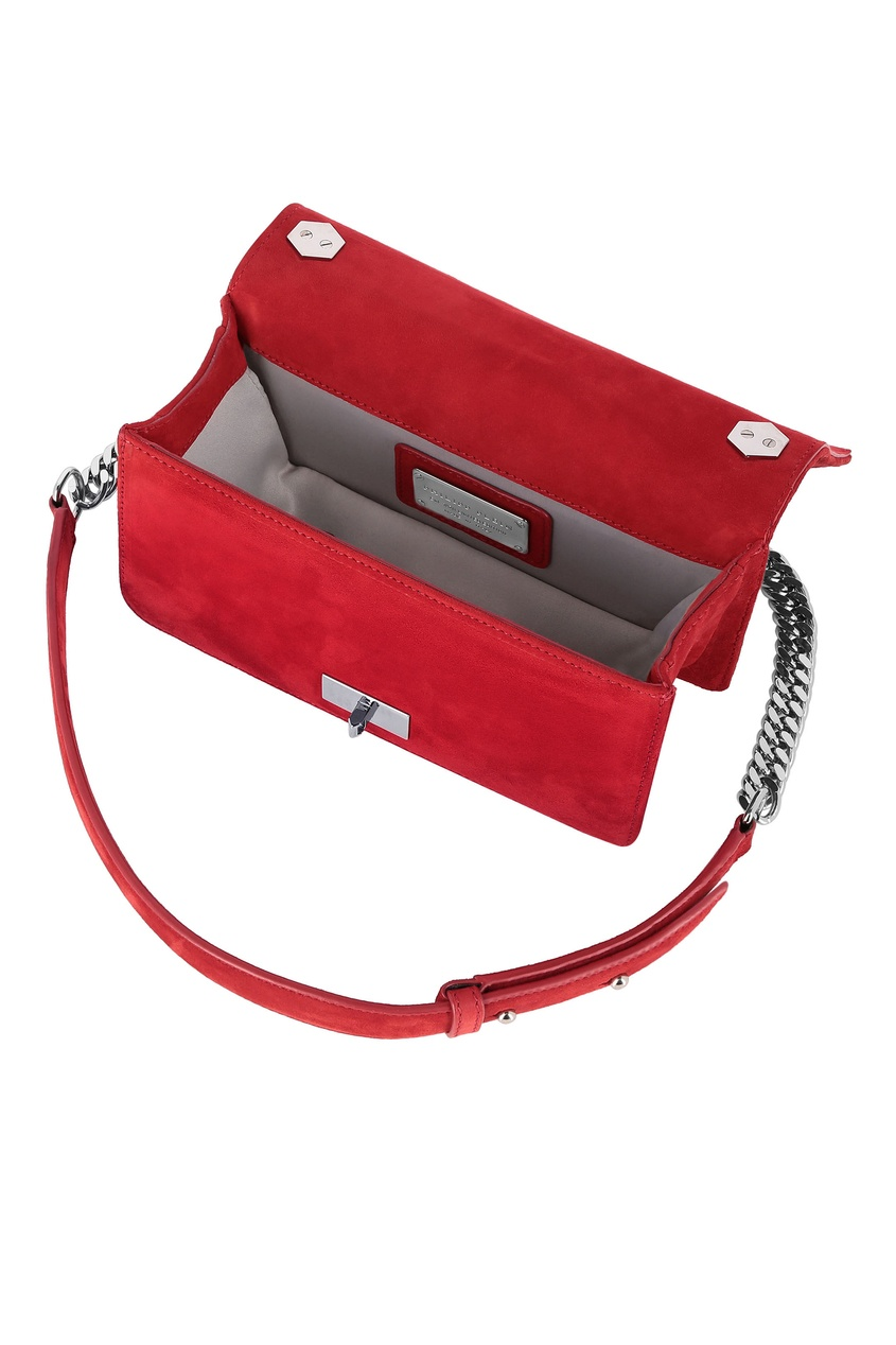 женская сумка philipp plein, красная