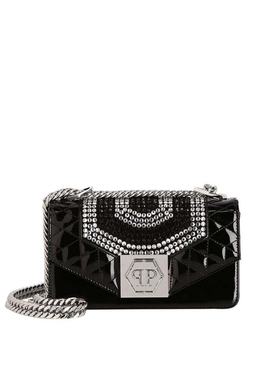 женская сумка philipp plein, черная