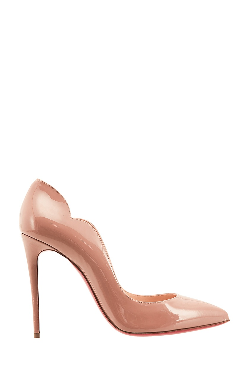 Нюдовые лаковые туфли Hot Chick 100 Christian Louboutin