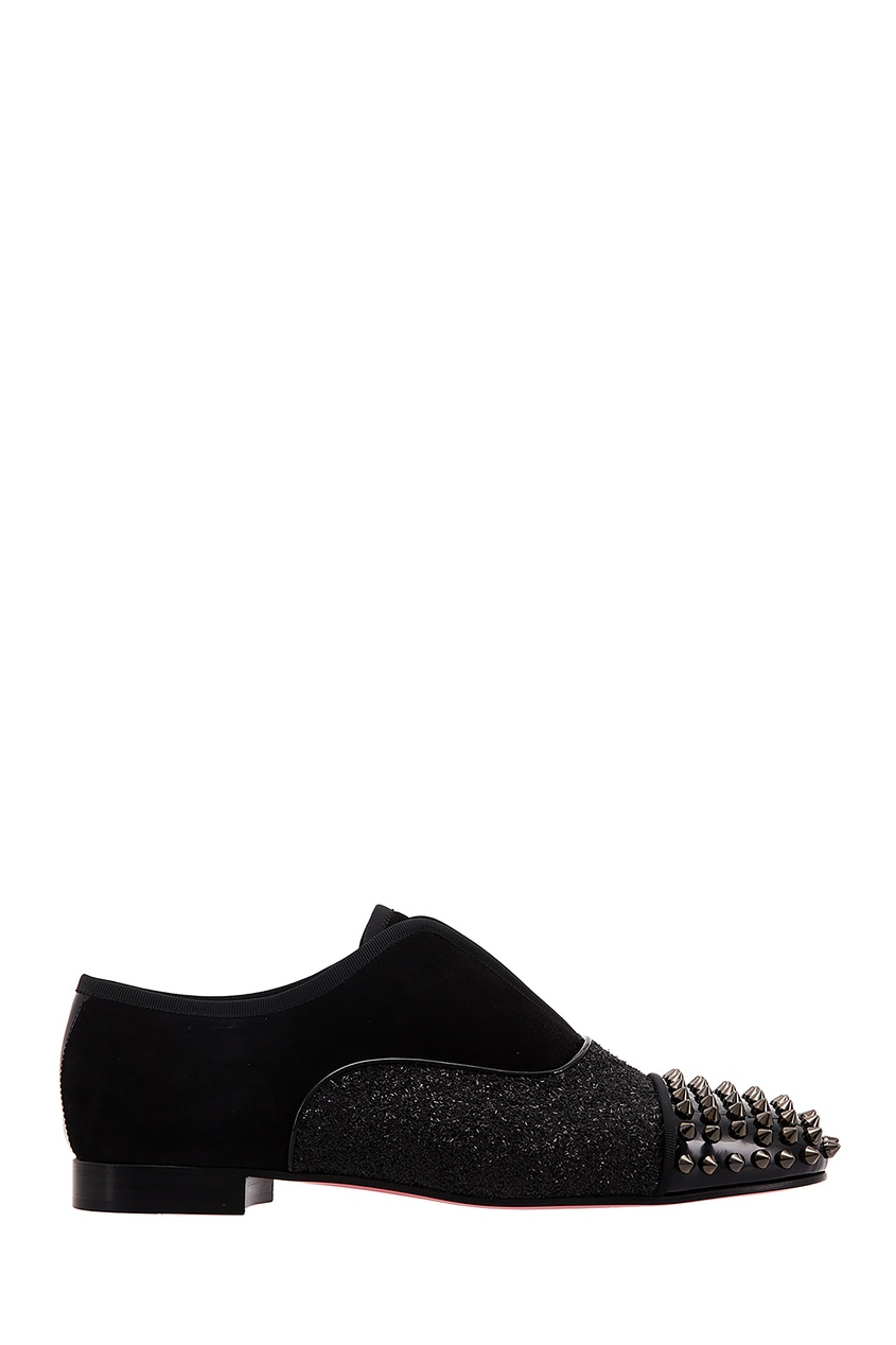 Черные туфли Alpha Girl Spikes Flat Christian Louboutin