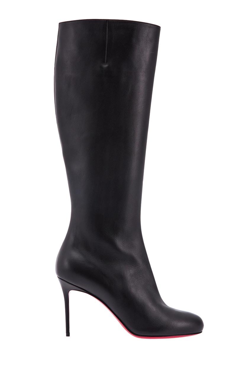 Черные кожаные сапоги Fifi Botta 85 Christian Louboutin