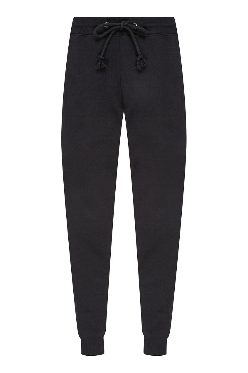 Черные брюки с кулиской в тон