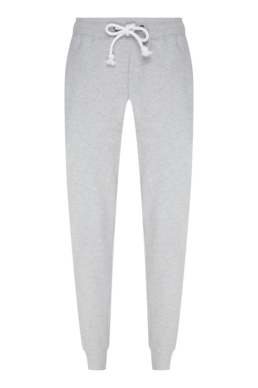 Светло-серые брюки с кулиской, Серый