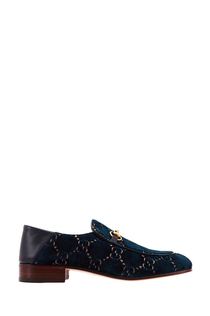 мужские туфли gucci man, синие