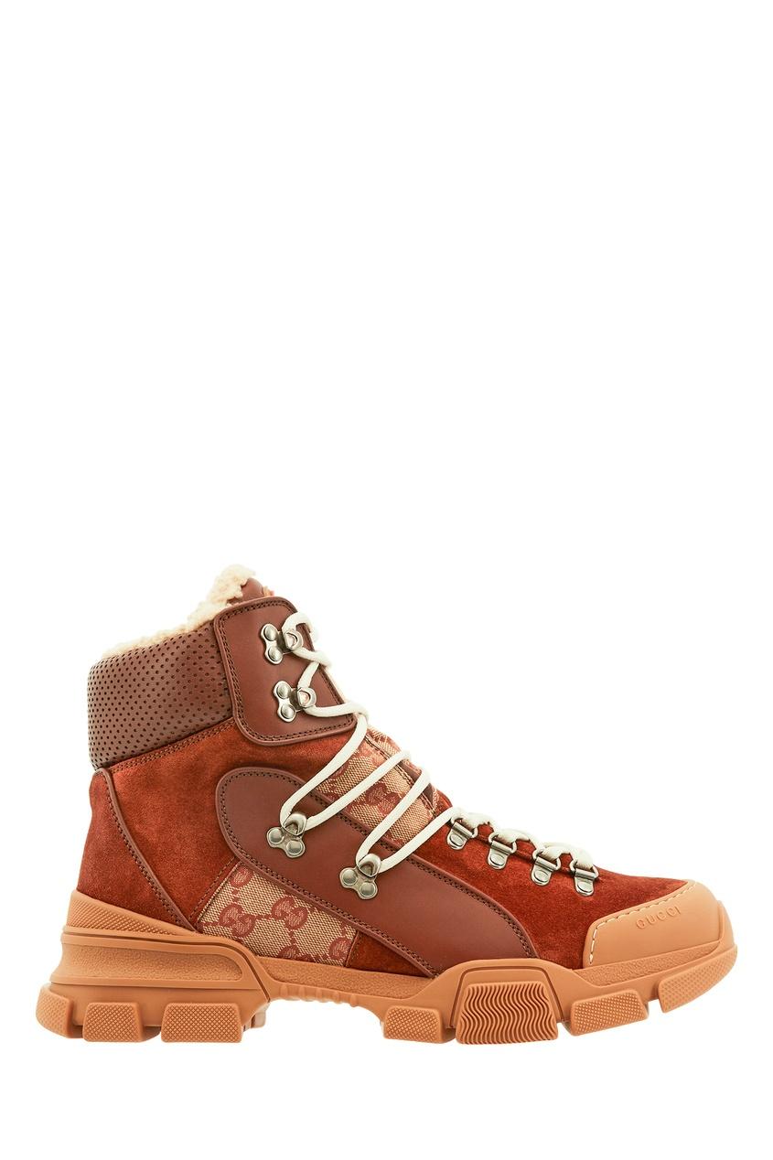 мужские ботинки gucci man, бежевые