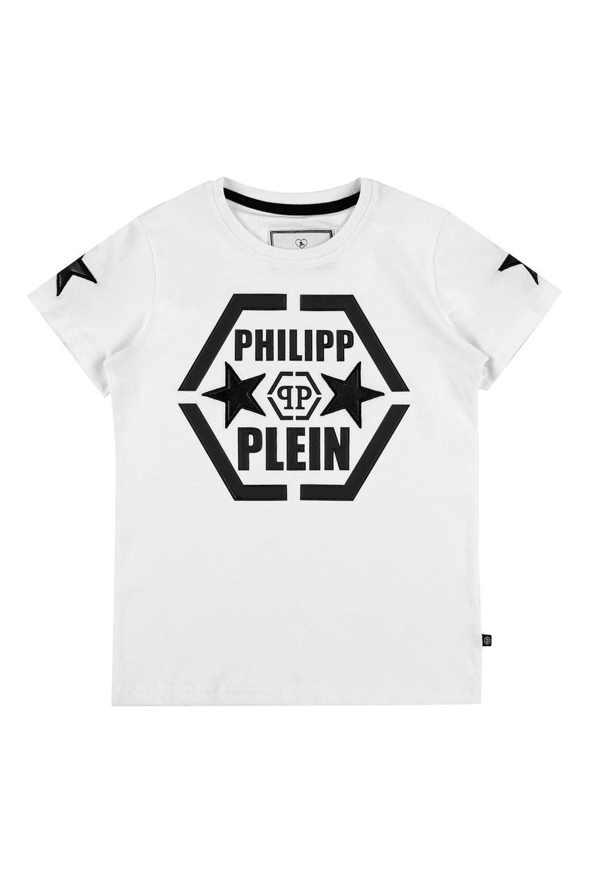 Белая футболка с логотипом Philipp Plein Kids