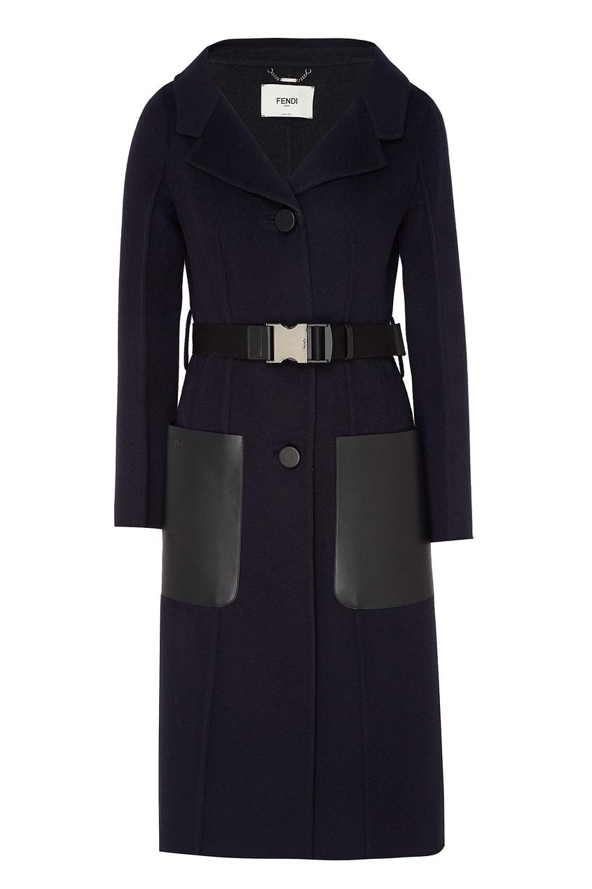 женское пальто fendi, синее