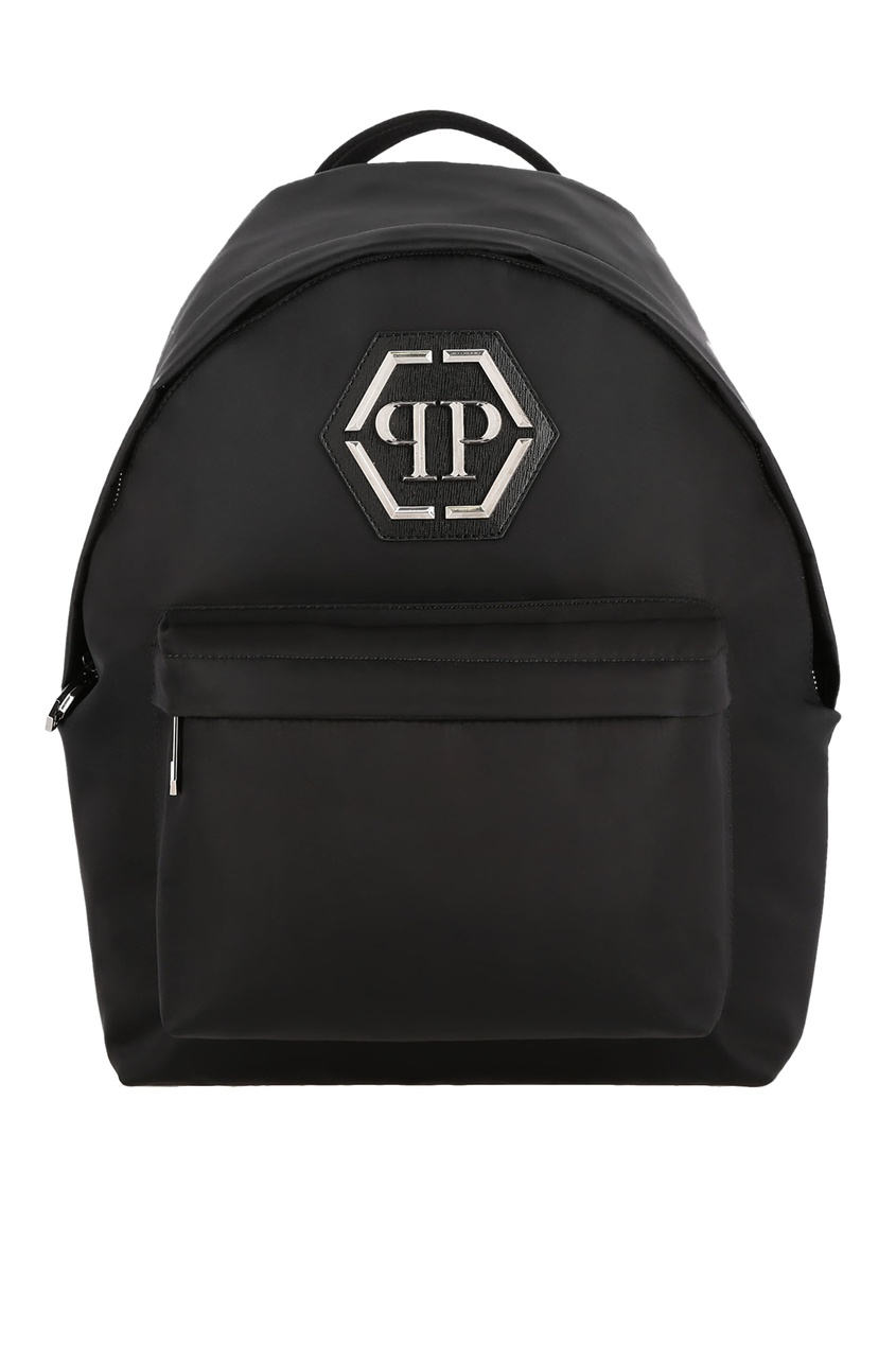 Купить со скидкой Черный рюкзак с логотипом