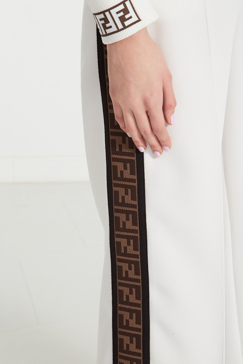 женские брюки fendi, белые