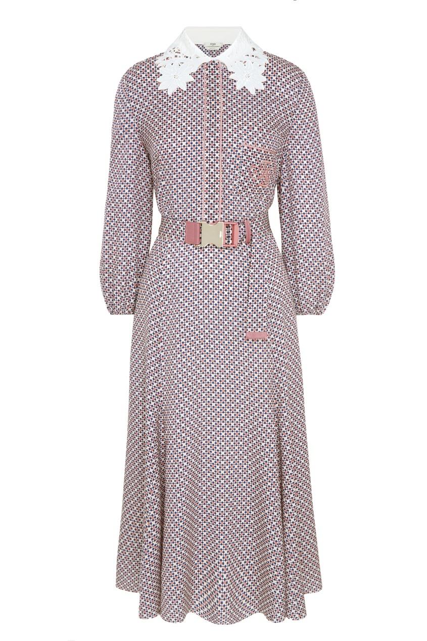 женское платье fendi, розовое