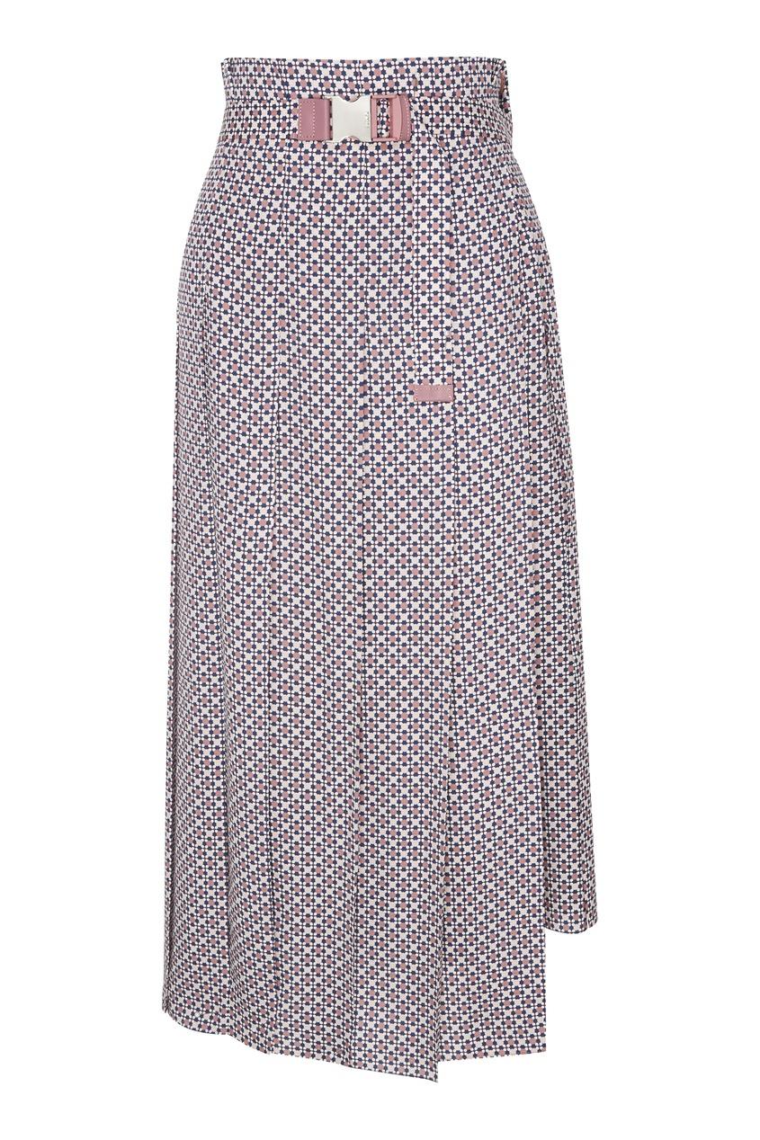 женская юбка fendi, розовая
