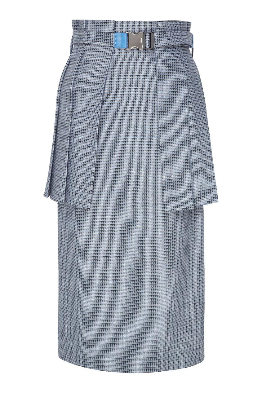женская юбка fendi, синяя