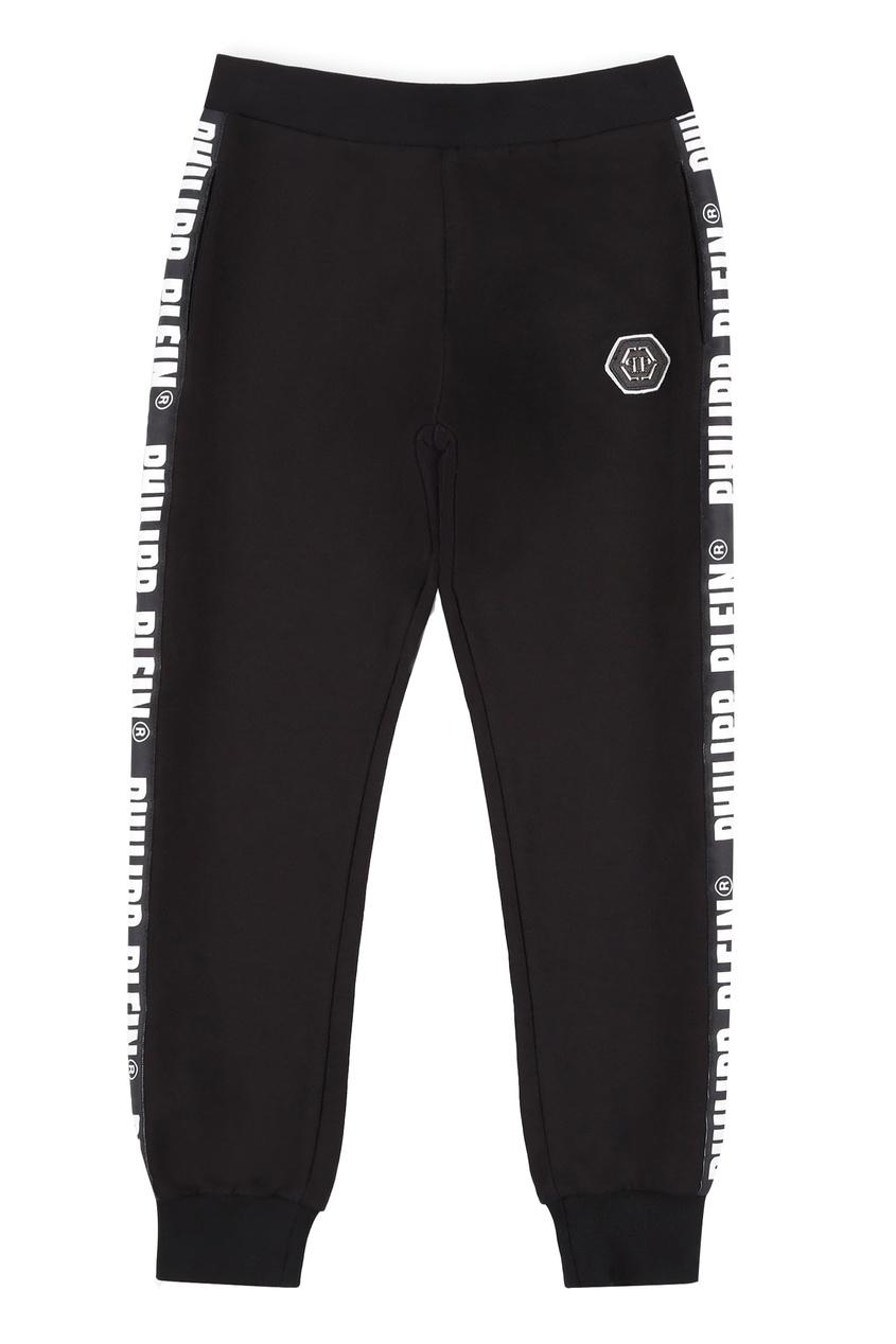Черные брюки с логотипами Philipp Plein Kids
