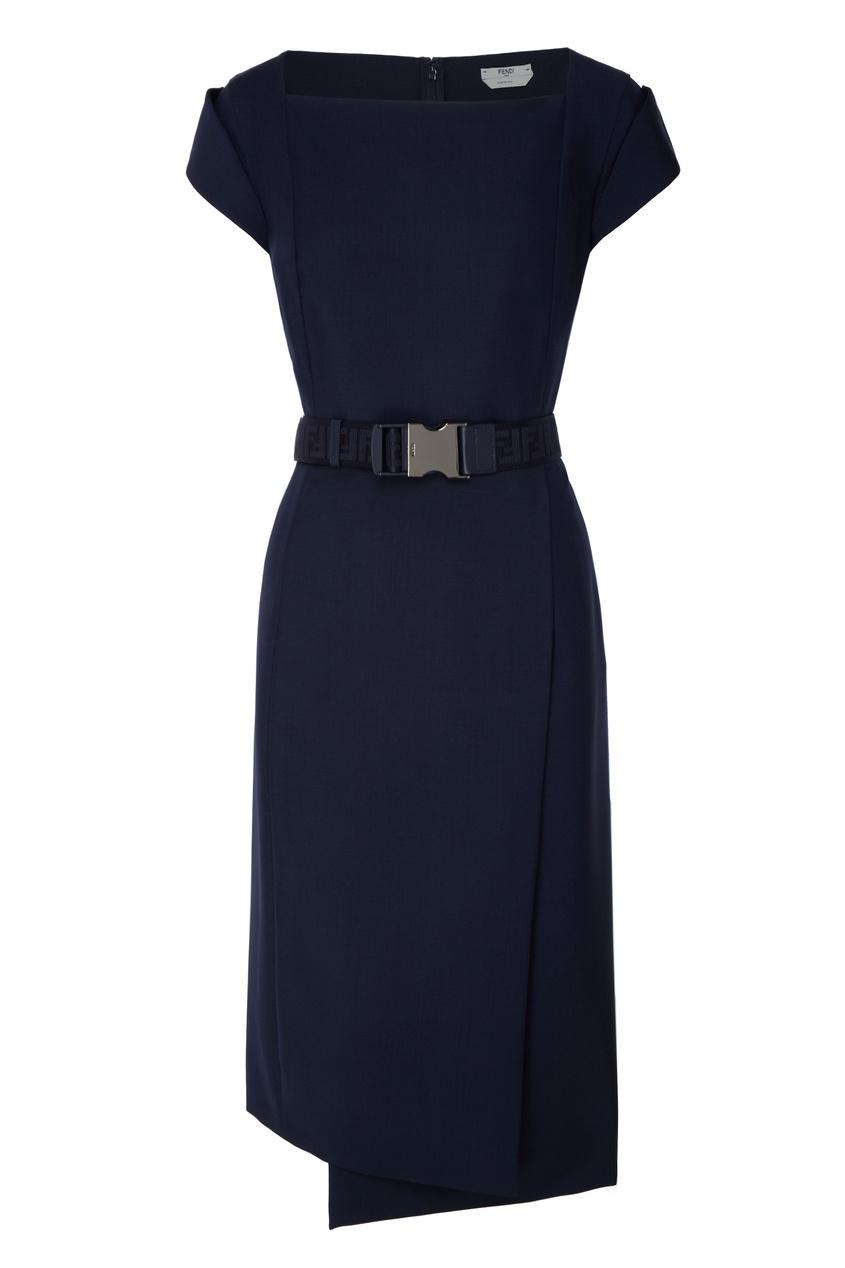 женское платье fendi, синее