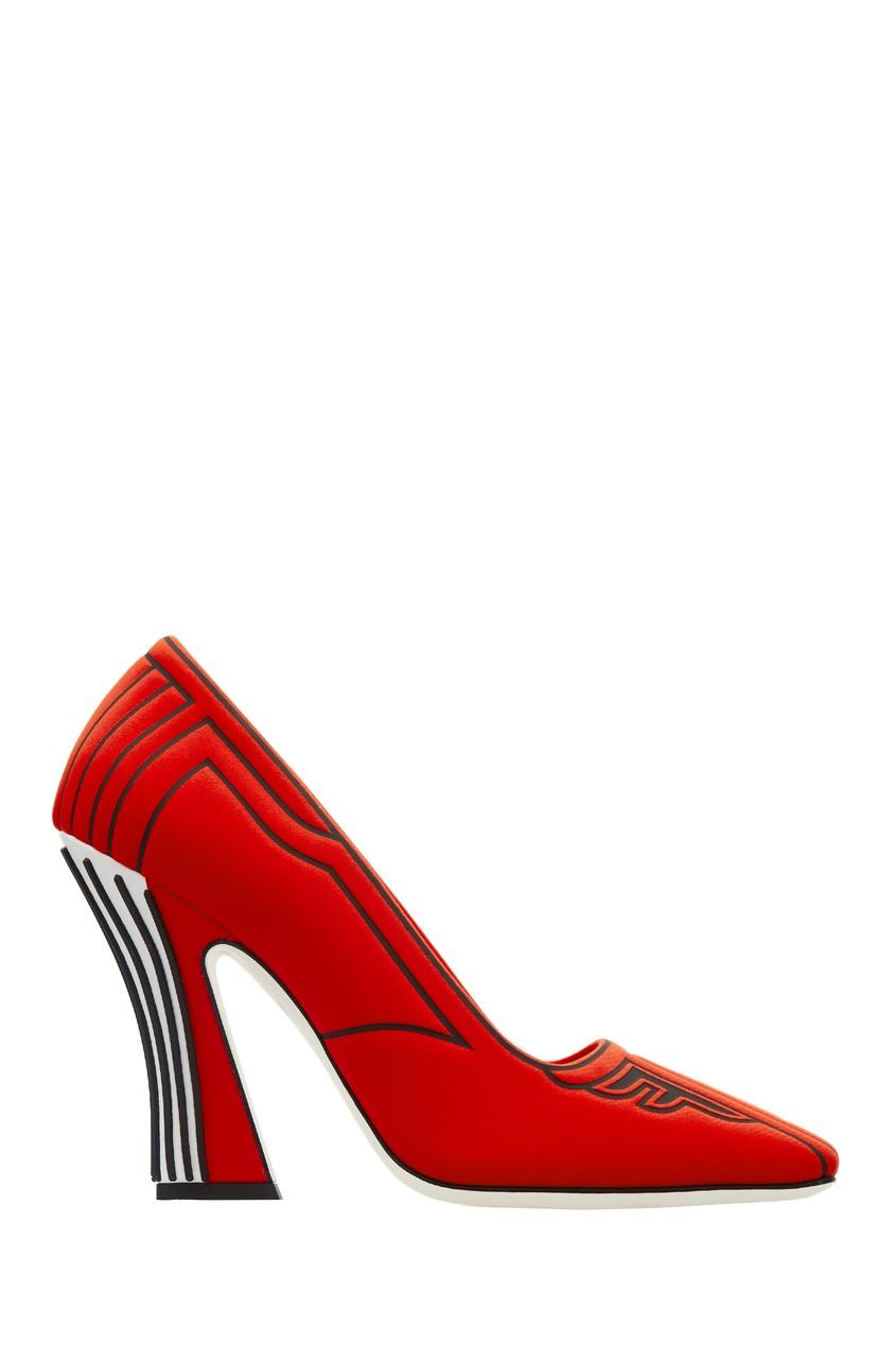 женские туфли fendi, красные