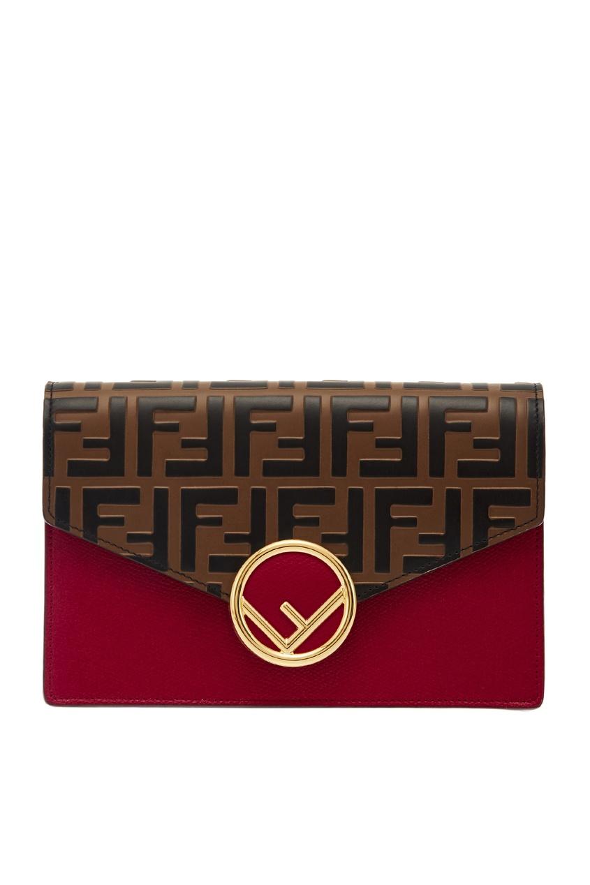 Клатч на цепочке с логотипами Fendi