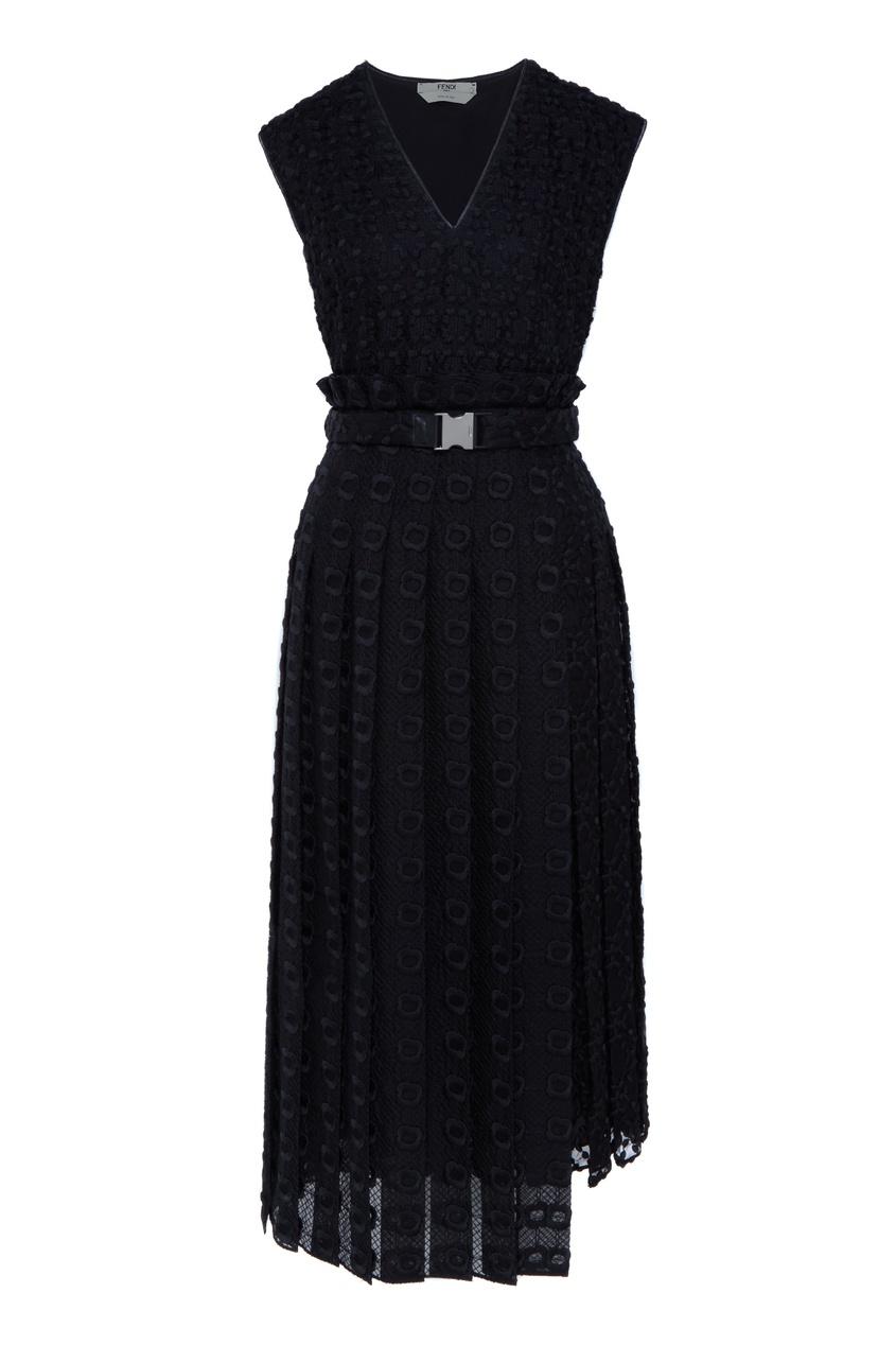 женское платье fendi, черное