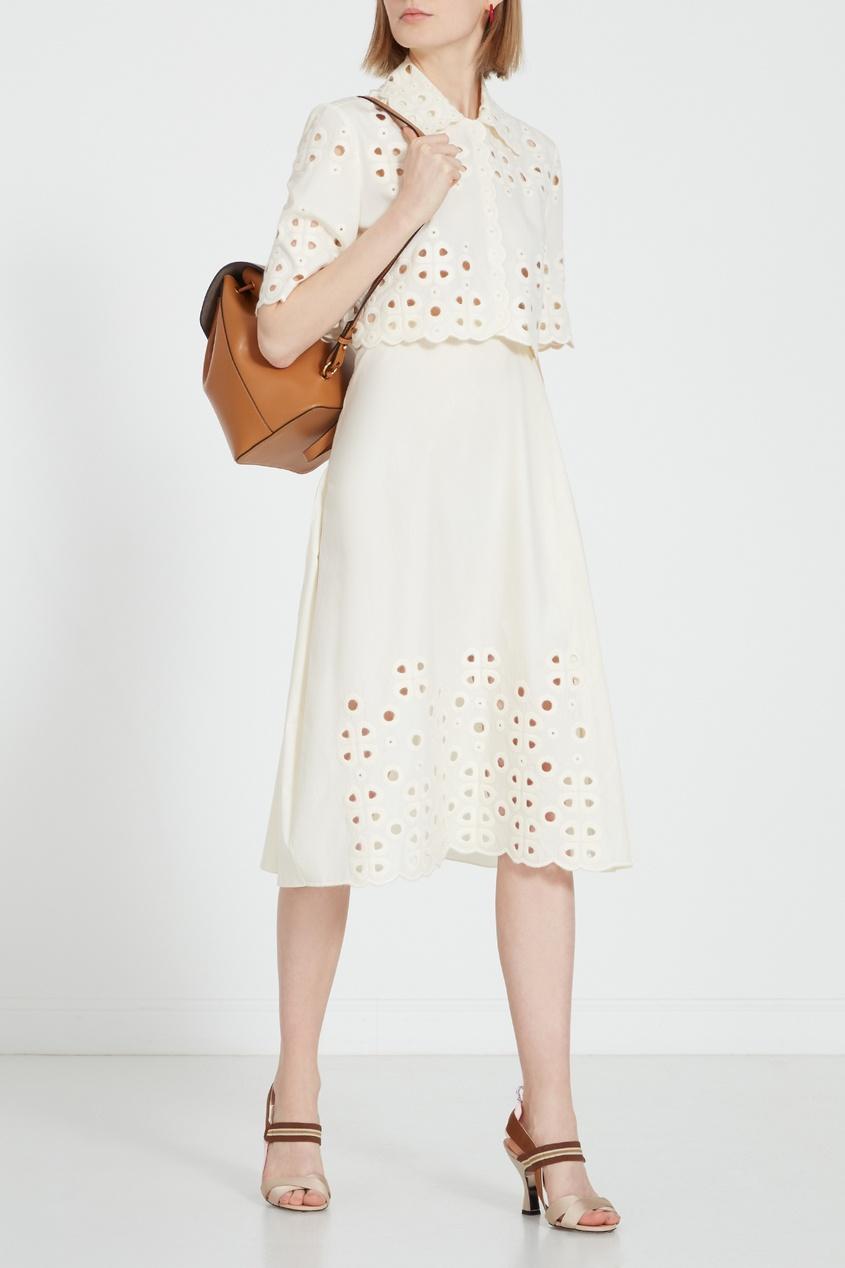 женская юбка fendi, белая