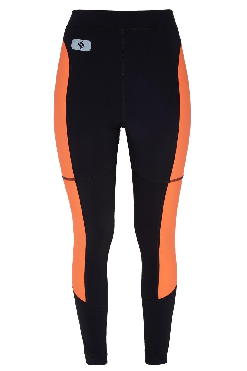 Черные леггинсы с оранжевыми вставками alexanderwang.t