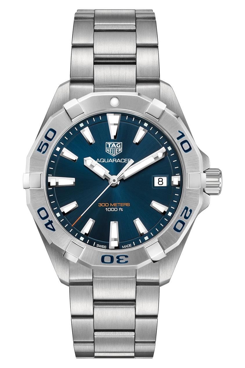 AQUARACER Кварцевые мужские часы с синим циферблатом