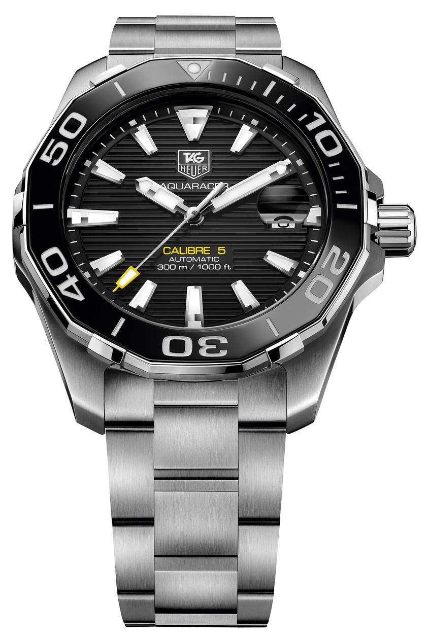 Фото 3 - AQUARACER Автоматические мужские часы с черным циферблатом цвет без цвета