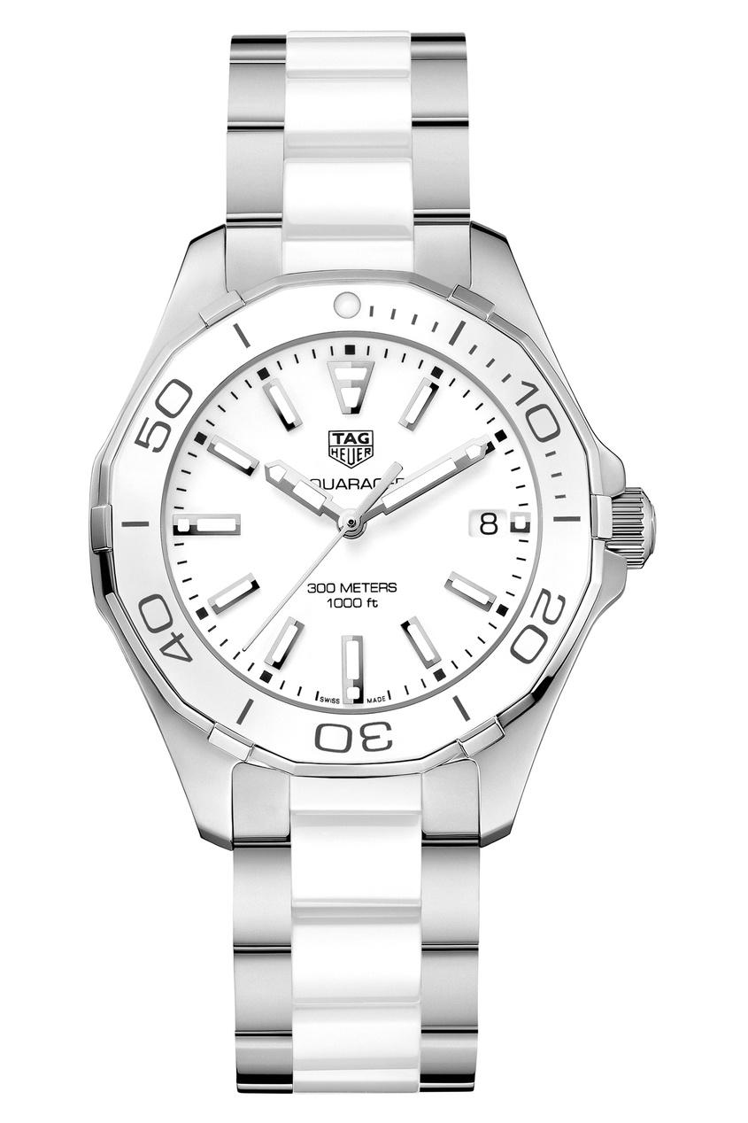 AQUARACER Кварцевые женские часы с белым циферблатом