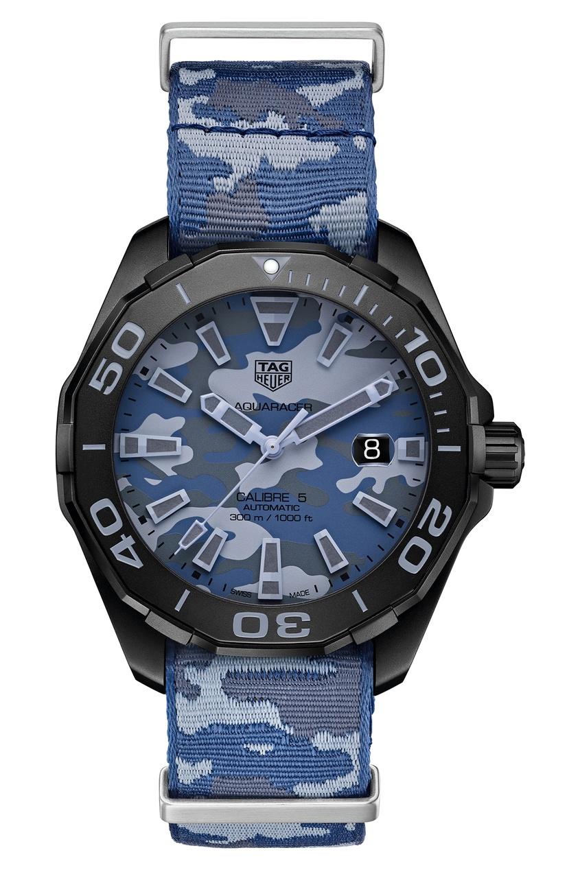 AQUARACER Calibre 5 Автоматические мужские часы с камуфляжным ремешком