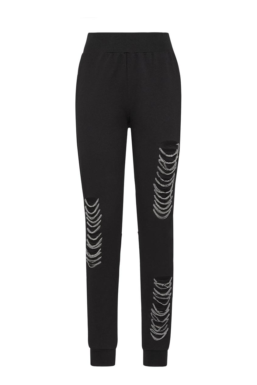 женские брюки philipp plein, черные