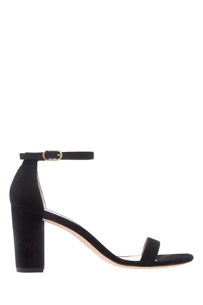 Черные босоножки с ремешком на щиколотке Stuart Weitzman