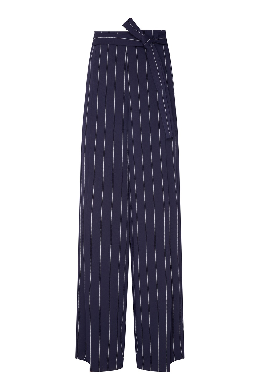 Фото - Синие брюки в полоску синего цвета