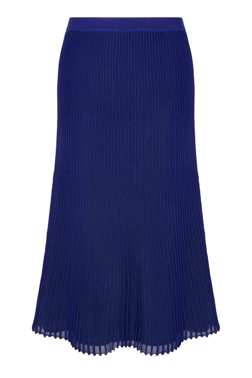Синяя трикотажная юбка Adolfo Dominguez