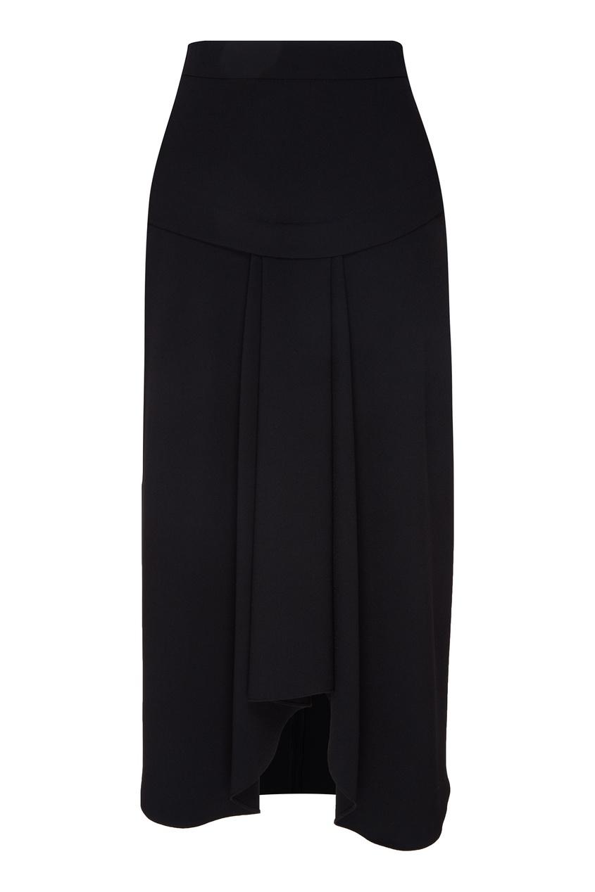 Черная юбка с асимметричным низом
