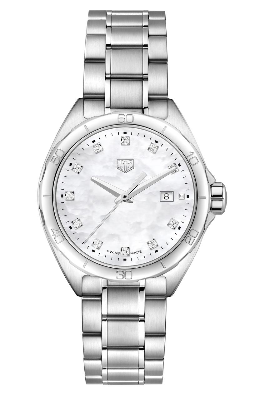 FORMULA 1 Кварцевые женские часы 32 мм с белым перламутровым циферблатом